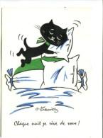 Cp - Illustrateur G. MEUNIER - CHAT : Chaque Nuit Je Rêve De Vous ! - Meunier, G.