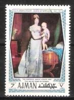 """Ajman : Timbre Oblitéré De 1970 - Napoléon (  Marie-Louise Et Le Roi De Rome Par  """" Gérad """"  ) - Napoleon"""
