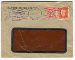 Enveloppe De Lille En 1945 Affranchissement Dulac Et Arc De Triomphe   Référence 341 - Marcophilie (Lettres)