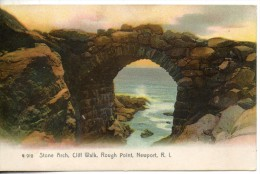 Etats Unis. Stone Arch, Cliff Walk, Rough Point, Newport - Newport