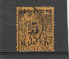 Indochine -_1889 - N°1 35c Surchargé 5c