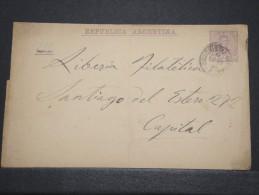 ARGENTINE - Env Entier Envoi Intérieur - Nov 1891 - P16698 - Entiers Postaux