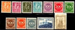 GERMANIA IMPERO 1923 , Serie N . 239/250  * - Germania