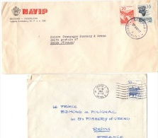DIV-L3 - YOUGOSLAVIE 2 Lettres Pour Reims - 1945-1992 République Fédérative Populaire De Yougoslavie