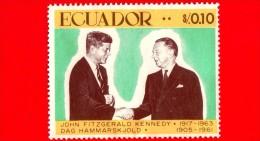 ECUADOR - Usato - 1967 - 50° Anniversario Della Nascita Di John Fitzgerald Kennedy E Dag Hammarskjöld - 0.10 - Ecuador