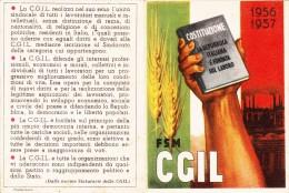 TESSERA C.G.I.L 1956-1957 - - Pubblicitari