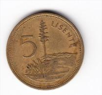 1979 Lesotho 5 Lisente Coin - Lesotho
