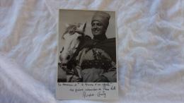 PHOTO DE RAYMOND CORDY EN SPAHI  DEDICACE A L ASSOCIATION DES AMIS DE PIERRE LOTI - Dédicacées