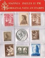 R 1064. Carpeta Souvenir Sellos Y Moneda VATICANO, Juan Pablo II, Alpaca Plateada * - Vaticano (Ciudad Del)