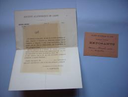 2 Documents Société Académique De Laon Exposition Artistique De 1883 - Programmes