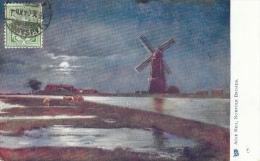 Acle Mill - Norfolk Broads - Moonshine - Carte Oilette Raphael Tuck & Sons' - Angleterre