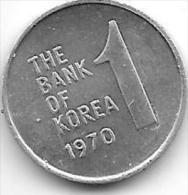 *korea South 1 Won 70  Km 4a  Xf+ - Korea, South