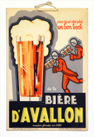 Ancien Carton Publicitaire 1928 Brasserie D'Avallon –Yonne  (bière, Beer) - Enseignes