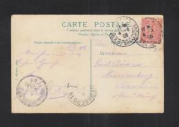 Carte Postale Paris 1906 Perfin - Poststempel (Briefe)