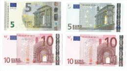 MINI RACCOLTA BANCONOTE DA 5 E 10 Euro T IRLANDA  TRICHET E DRAGHI UNC RARE - CATALOGO 77 Euro - EURO
