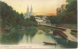 Niort Vue Prise Du Pont Main 1906. - Niort