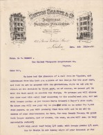 Lettre 4/12/1900 SUTTON SHARPE Designers Printers Publishers London - Cognac - Royaume-Uni
