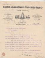 Lettre 21/12/1910 NESTLE & Anglo Swiss Condensed Milk Cham & Vevey - London - Bordeaux - Royaume-Uni