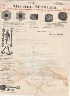 Lettre 1919 MICHEL MEHLER Fournisseur Pour La Marine, Les Chemins De Fer & L´Industrie BIRMINGHAM - Déchirure - Royaume-Uni
