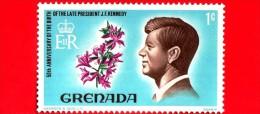 GRENADA - Usato - 1968 - 50° Anniversario Della Nascita Di John F. Kennedy - 1 - Grenada (...-1974)