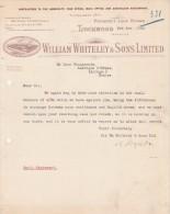Lettre 1924 William Whiteley Prospect Iron Works TROCKWOOD Yorkshire - Larroque D´Olmes Ariège France - Royaume-Uni