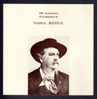 "Encart 1er Jour De 4 Pages De 1980 "" FREDERIC MISTRAL "" N° YT 2098"