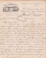 Lettre 1900 W L JONES Wholesale Wine & Spirit EXETER - - Royaume-Uni