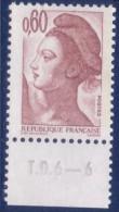 Liberté De Gandon 0,60 Brun-rose (n°2239) Numéro De Presse TD6-6 - 1982-90 Liberté De Gandon