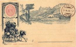 Suisse Entier Postal Illustré 1893 - Stamped Stationery