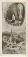 IMAGE PIEUSE HOLY CARD SANTINI LOURDES : Invocations - Andachtsbilder
