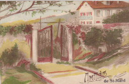Amitiés De St-Mard (colorisée, La Favorite, Artige & Cie, 1919...voir Texte) - Virton