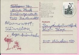 Carte Postale, Postmark Karlsruhe, 1989., Germany - [7] Repubblica Federale