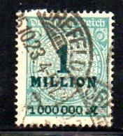 GERMANIA IMPERO 1923 ,   N . 295  Usato - Gebraucht