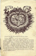 (71)- PARAY  Bibliothèque Du Hiéron .(Gravure De  1708)-  Circulée 1922  (2 Scanns) - Paray Le Monial