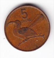 1988 Botswana 5 Thebe Coin - Botswana