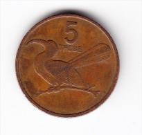 1981 Botswana 5 Thebe Coin - Botswana