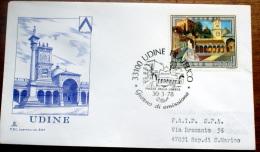 ITALIA 1978- UDINE  FDC VIAGGIATA PER SAN MARINO - 6. 1946-.. Republic