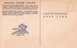 "Canada Montreal 1967 Expo 67 / World Exhibition ""Polymer Corporation Pavilion"" Post Card-XV - 1953-.... Elizabeth II"