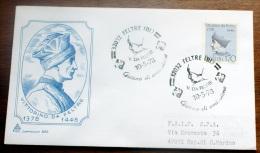 ITALIA 1978-VITTORINO DA FELTRE    FDC VIAGGIATA PER SAN MARINO - 6. 1946-.. Republik