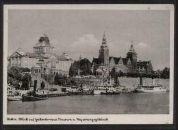 AK Stettin - Blick Auf Hakenterrasse, Museum + Regierungsgebäude - Gelaufen Am 29.4.1940 - Pommern