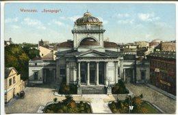 Judaica Warszawa Synagoga  Suworin 1913 - Polen