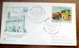 ITALIA 1978- GUBBIO     FDC VIAGGIATA PER SAN MARINO - 6. 1946-.. Repubblica