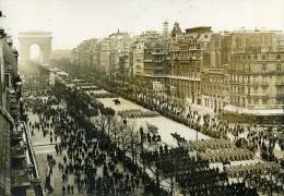France Paris Fête De L'Armistice Panorama Defile Des Troupes Ancienne Photo Meurisse 1929 - Places