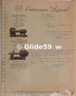 Courrier Etablissements Réginald - A. BOITEUX Ingénieur-Constructeur - Electricité, Pompes &  - Paris Le 11 Février - France