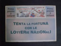 BIGLIETTO LOTTERIA ITALIA 1990 CARTOLINA POSTALE - Billets De Loterie