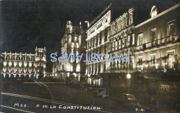 30177 MEXICO D.F PALACE OF THE CONSTITUTION THE NIGHT POSTAL POSTCARD - Mexique