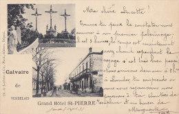 Verdelais 33 - Précurseur Grand Hôtel St Pierre Calvaire - Cad 1899 Verdelais Verviers Station Belgique - Verdelais