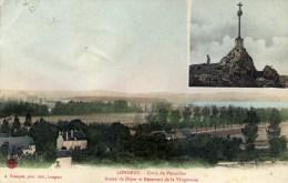 52 LONGEAU 2 Vues Croix De Verseilles Et Route De Dijon Réservoir De La Vingeanne Colorisée - France