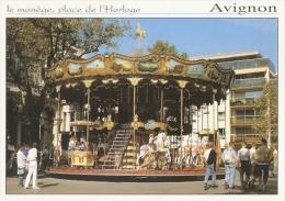 15/FG/16 - GIOCHI: AVIGNON (FRANCIA) - Place De L'horologe Con La Giostra - Cartoline