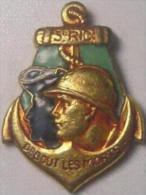 Pin´s Militaire - Marine - Régiment D´infanterie - 3è Régiment D´Infanterie Coloniale (vis) - Militaria